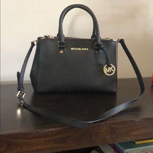 Handbags - Micheal Kors black leather satchel